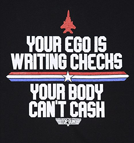 Womens Top Gun Your Ego Is Writing Checks Boyfriend T Shirt