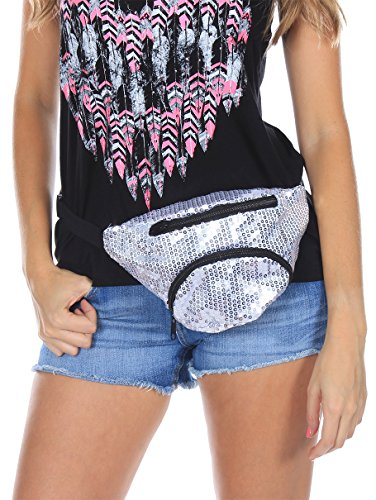 X80 Silver Sequin Fanny Pack