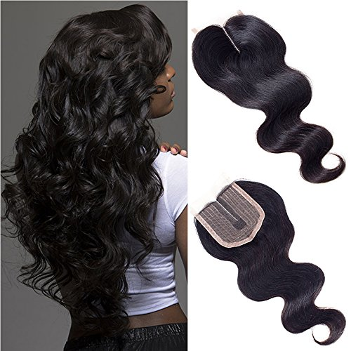 Forevery Hair Lace Closure 4x4 Body Wave Brazilian Virgin Human Hair Extensions Middle Part