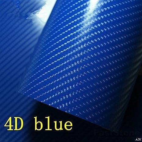 4D Involucro in Fibra di Carbonio Vinile Lucido per Auto Aria // senza Bolle
