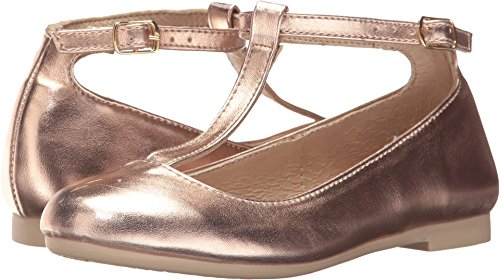 Kid Express Baby Girl's Sophia (Toddler/Little Kid/Big Kid) Rose Gold Metallic Shoe