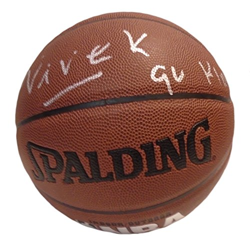Sacramento Kings Owner Vivek Ranadive Autographed Hand Signed NBA Spalding Basketball with Inscription and Exact Proof Photo of Signing, COA