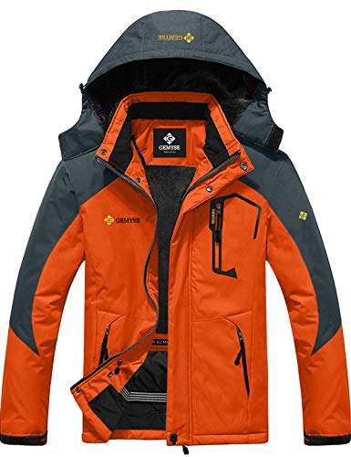 GEMYSE Men's Mountain Waterproof Ski Snow Jacket Winter Windproof Rain Jacket