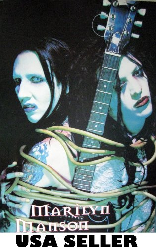Marilyn Manson & Twiggy Ramirez Poster Colorful Htf sent From USA in PVC pipe
