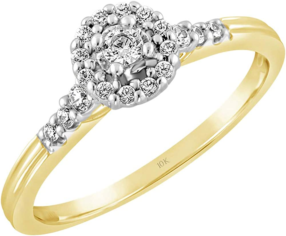Size-3 1//20 cttw, Diamond Wedding Band in 10K Yellow Gold G-H,I2-I3