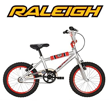 Raleigh Fury 16 Childrens Bike Silver And Red Unisex Amazon