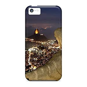 For iphone 5c iphone 5c Tpu Phone Case Cover(city Night Neon)