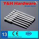 50mm Long Hex Screwdriver Bits Set 1/4 Inch Hex Shank Magnetic Power Tool S2 Screwdriver Bits Power Tool Accessories
