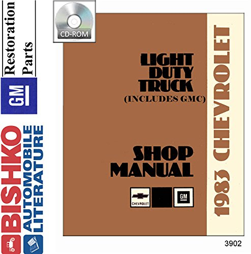 bishko automotive literature 1983 Chevy GMC 10-35 Pickup Truck Shop Service Repair Manual CD ()