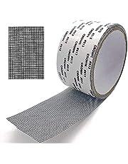 "Window Screen Door Repair Kit Fiberglass Cloth Mesh Tape Extra Strong Self Adhesive Waterproof - Tape 2"" * 16.7' (5cm * 5m) Black"