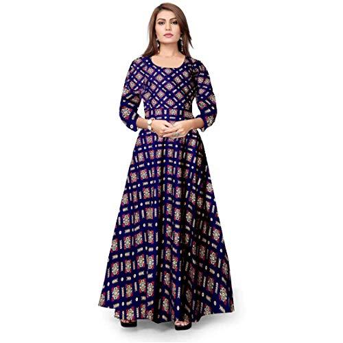 Mudrika Long Rayon Maxi Gown for Women Girls