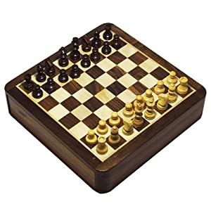 Handmade Backgammon Chess Set Board with Storage - Magnetic 2 in 1 Chess Set and Backgammon Combo Game