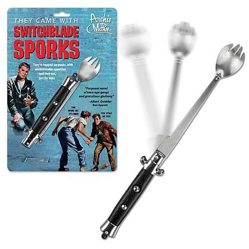 Switchblade Spork Novelty Portable Lunch