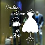 Beautiful Elegant Dress Bag High-heeled Shoes Decorative Window Sticker