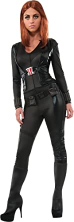 womens halloween costume black widow adult costume medium