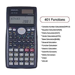 KKmoon Scientific Calculator Counter 401 Functions Matrix Dot Vector