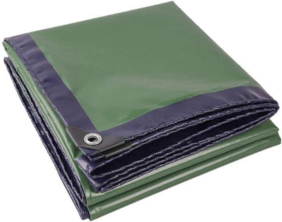 DALL ターポリン 防雨布 両面防水 多目的 耐摩耗性 保護カバー 500g \㎡ 厚さ0.45mm (Color : 緑, Size : 5×6m) 緑 5×6m