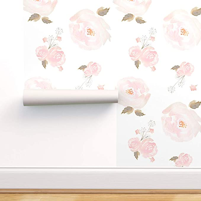 Kids Wallpaper Pre-Pasted Floral Removable Wallpaper Peel and Stick Floral Wallpaper 30-0006 Girls Nursery Wallpaper Removable Wallpaper