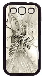 Unique Design with Illustration Painting Spiral Mania 8 - Black & White Hard Plastic Back Case for Samsung Galaxy S3 I9300 -516058