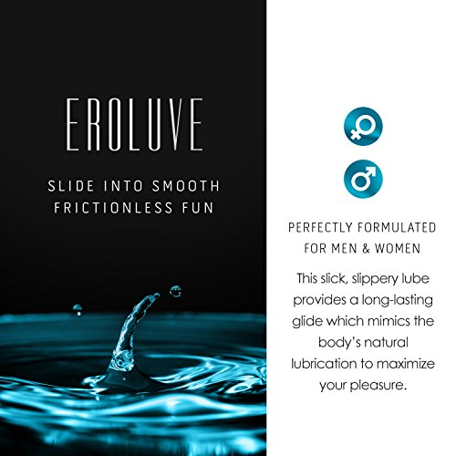Eroluve - Personal Lubricant -- Premium Water Based Intimate Lube for Men & Women - Reduce Friction & Enhance Pleasure - Non Irritating - Paraben Free - Sensual Lotion with a Natural Feel (250 ml)