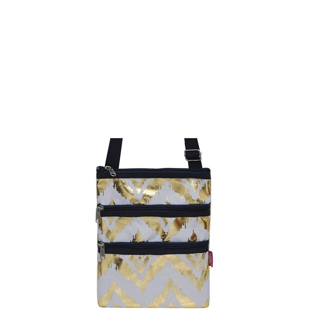 Ikat Geometric Print NGIL Messenger Hipster Bag Gold Collection