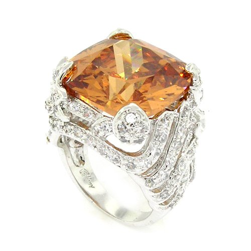A Ring of Substance w/Champagne Topaz CZ & Pav?Size ()