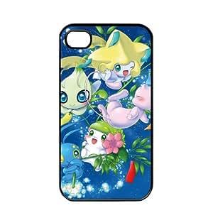 iphone covers Pokemon Popular Cute Shaymin Pikachu Apple Iphone 5c TPU Soft Black or White Cases (Black)