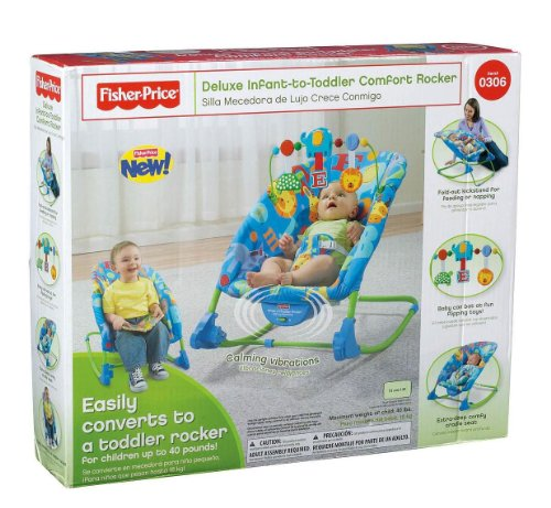 9e961d413 Amazon.com   Fisher-Price Deluxe Infant-to-Toddler Rocker