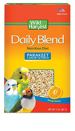 2 Lb Small Animal Foods - Wild Harvest Daily Blend for Parakeet, Canary, Finch & Small Birds 2lb