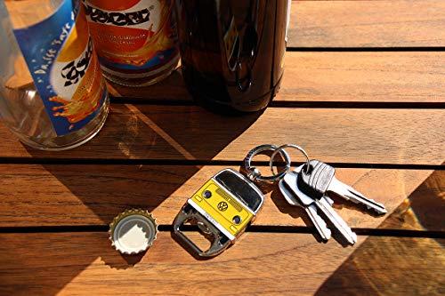BRISA VW Collection - Volkswagen T2 Bulli Bus Schlüssel-Anhänger-Flaschenöffner, Geschenk-Idee/Fan-Souvenir/Retro…