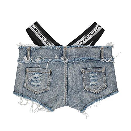 vestir White sheng de baja Summer de vaqueros Sexy mujer cortos de Pantalones Night Club Ju altura zZdqvz