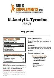 BulkSupplements Pure N-Acetyl L-Tyrosine (NALT) Powder (250 grams)
