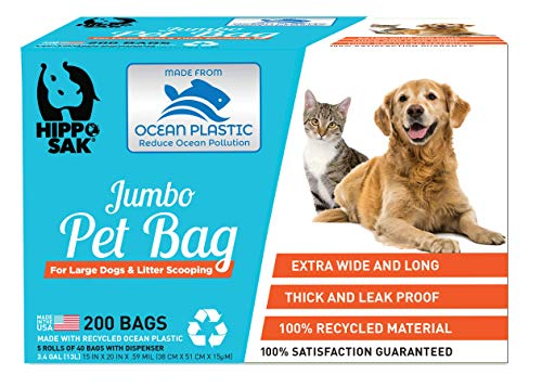 Hippo Sak Pet Poop Bags Made with Recycled Ocean Plastic