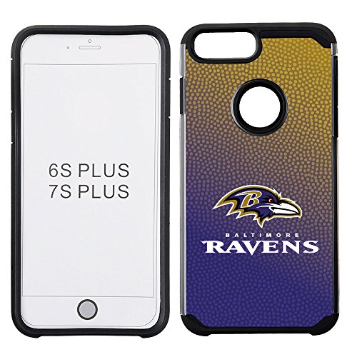 NFL Baltimore Ravens Gradient Football Pebble Grain Feel iPhone 7 Plus Case