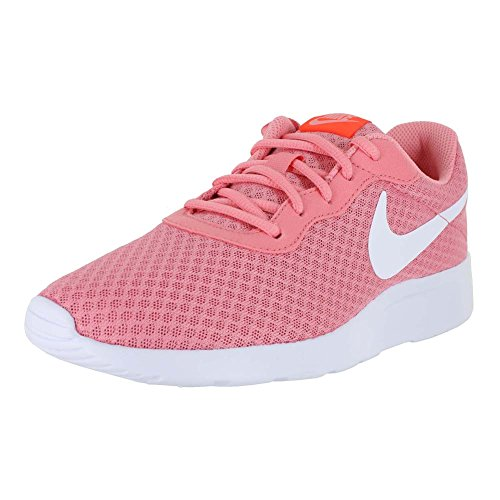 NIKE Women's Tanjun Shoe Lava Glow/White/Total Crimson Size 8.5 M US