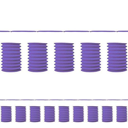Accordion Style Paper Lantern Garlands | New Purple | Party Decor