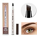 Tattoo Eyebrow Pen Waterproof Ink Gel Tint with Four Tips, Long Lasting Smudge-Proof