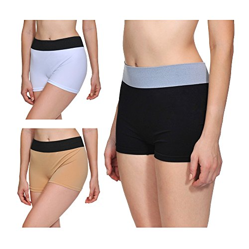 LastFor1 Women Soft Underwear Boyshorts Panties Briefs Plus Size 3 Pack XL - Shorts Womens Comfortable