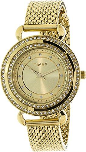 (Timex Watch, Women's Premium Originals Crystals Gold Tone Stainless Steel Mesh Bracelet 33mm T2P232AB)
