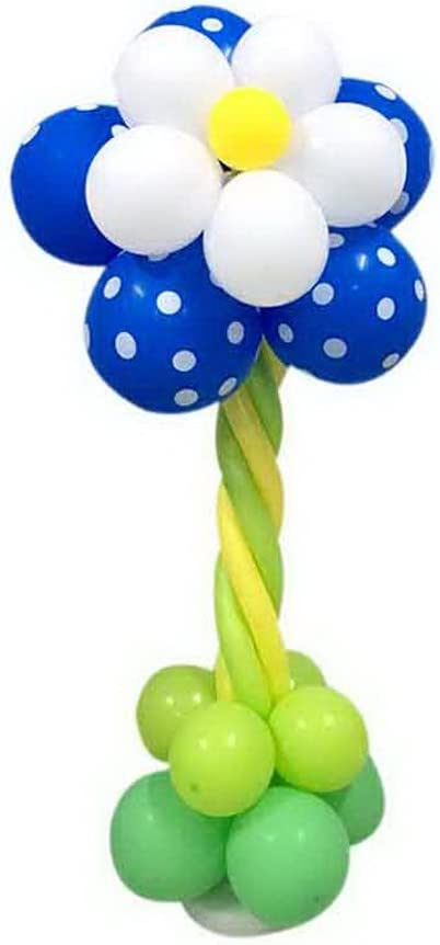 Spicy Meow 2 Pack Cumpleaños de la Fiesta Columna de Dibujos Animados Stand Azul Oscuro Puntos de Onda Globos de Flores: Amazon.es: Hogar