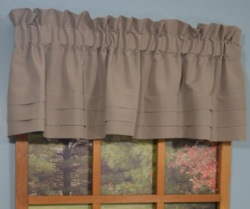 Curtain Chic Supple Microfiber Cumberbund Valance, - Adjustable Valance Window