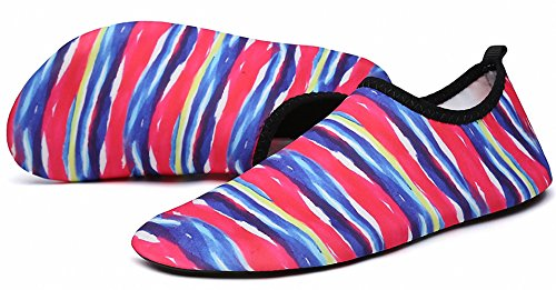 Quick Water Shoes Slip Dive Stripe on I Aqua Yoga Womens Mens ZHENZHONG Dry Swim Shoes Sports Beach Surf ZUxq0nwI