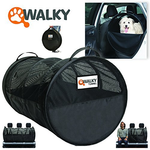 - Walky Tunnel Pet Tube, Car Kennel Crate, Automotive Pet Containment Barrier Kennel, Soft Pet Crate, Large, 47