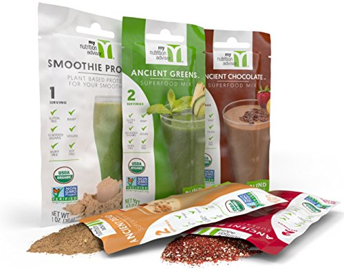 Ancient Superfood Powder Mix (Trial Bundle of 4 Superfood Smoothie Mixes + Smoothie Protein Powder)