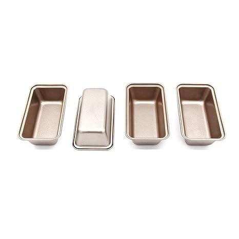 4 Moldes para Hornear Pan,antiadherente Mini rectangular para hornear latas, 15x 8.5 cm