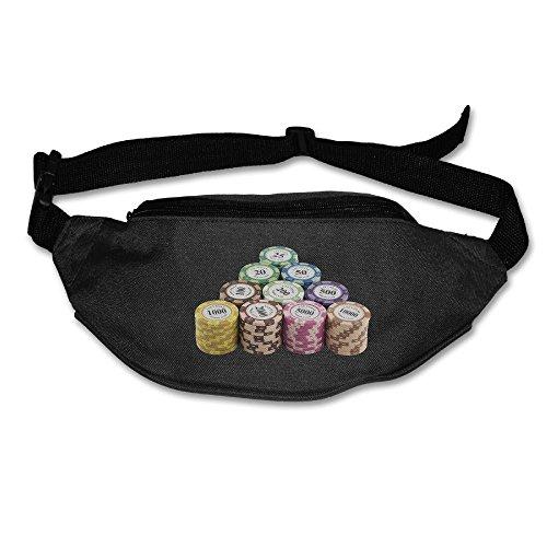 Homlife Waist Purse Poker Chip Clip Arts Unisex Outdoor Sports Pouch Fitness Runners Waist Bags - Poker Chip Money Clip
