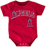 MLB Los Angeles Angels of Anaheim Boys Infant Mike Trout The Rookie Name and Number Jersey Onesie, Athletic Red, 24 Months