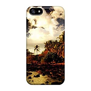Awesome Landscape Flip Case With Fashion Design For Iphone 5/5s