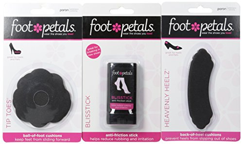 - Foot Petals Women's Heavenly Heelz, and Tip Toes Combo-W, Assorted, Medium/One Size M US