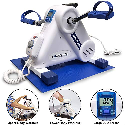 Exerpeutic Motorized Leg and Arm Exercise Bike with Bonus Mat Paradigm
